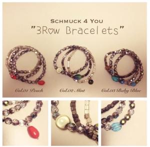3 Row bracelets designed byAlice