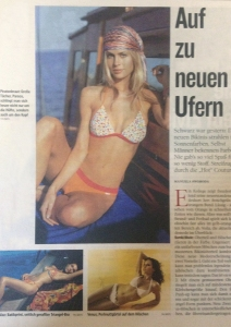 PRESS RELEASE:Triumph International swim Europe S/S2003 newspaper article